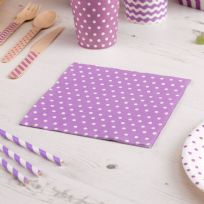 Carnival Purple Napkins - Dots (20)